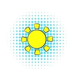 Sun icon comics style vector image vector image