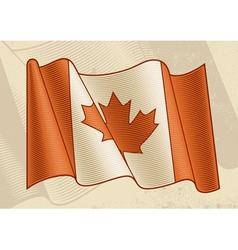 Vintage Canadian Flag vector image vector image