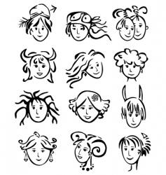 woman's horoscope vector image