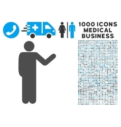Talking man icon with 1000 medical business vector