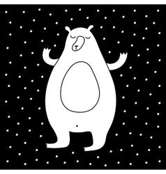 Cartoon Winter Bear vector image