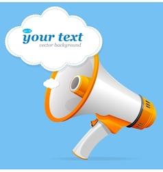 megaphone speech templates for text vector image