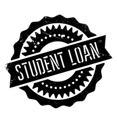 Student loan stamp vector