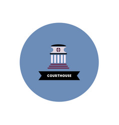stylish icon in color circle building courthouse vector image