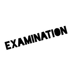 Examination rubber stamp vector