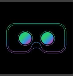 Virtual reality headset display stereoscopic vector