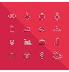 Icons mall set vector