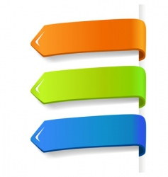 Colored tags vector