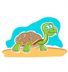 Happy tortoise vector