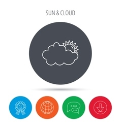 Sunny day icon summer sign vector