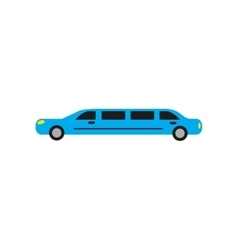 Flat web icon on white background limousine vector