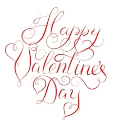 Happy valentines day - calligraphy lettering vector
