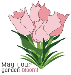 Garden bloom vector