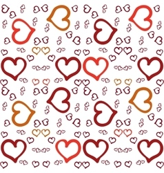 Seamless abstract pattern with hearts vector