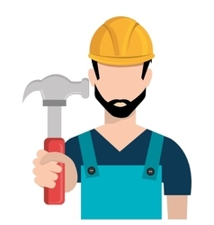Avatar man and hammer graphic vector