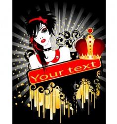 Punk poster vector