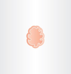 Abstract brain icon mind symbol vector