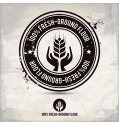 alternative fresh-ground flour stamp vector image vector image