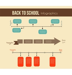 back to school infographics education year vector image