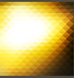 Black yellow white rows of triangles background vector