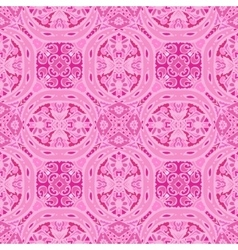 Cute pink floral ornament background vector