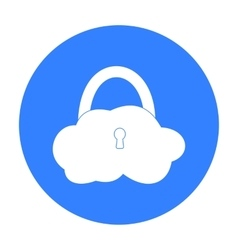 Data cloud security icon in outline style isolated vector