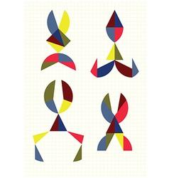 Different forms of scissors tangram vector