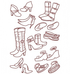 female footwear vector image