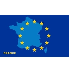 Flag of European Union with France on background vector image