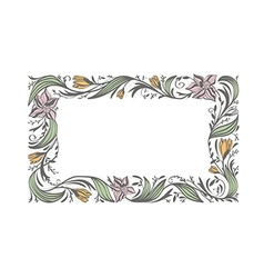 Floral Flower Decorative Frame vector image vector image