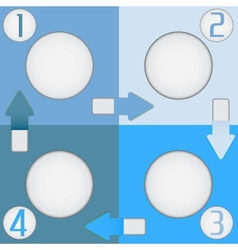 Four color squares vector image