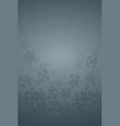 Grey puzzles pieces - jigsaw vector