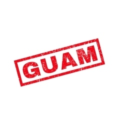 Guam rubber stamp vector