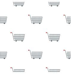 Large metal shopping trolley pattern flat vector