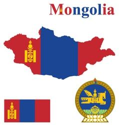 Mongolian flag vector
