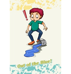 Out of the blue vector image vector image
