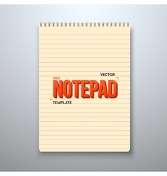 Realistic Notepad Office Equipment Yellow vector image vector image