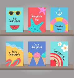 set of summer background for template design vector image vector image