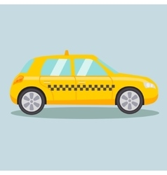 Taxi yellow car cartoon vector