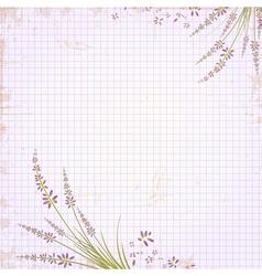 Vintage Notepad Notebook vector image