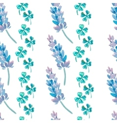 Watercolor pattern with Lavender Lavender and vector image