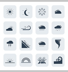 Weather and climate icon set vector image vector image