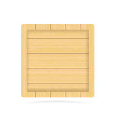 wooden empty signboard badge wood texture vector image