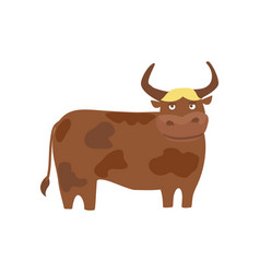 young bull hand drawn vector image vector image