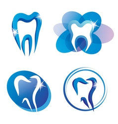 Teeth logo set vector