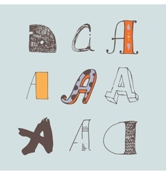set of colorful alphabet letters A vector image