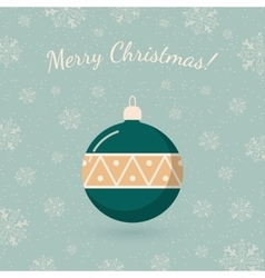 Christmas tree toy on winter backdrop vector
