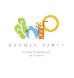 Summer party concept vector
