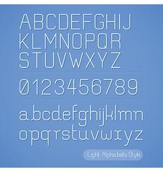 Alphabet line stripes style vector image