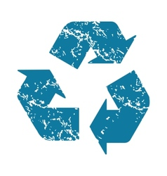Recycle grunge icon vector